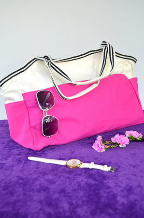 Large bag and accessories - sun glasses, wristwatch