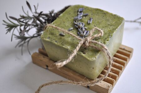 Handmade natural soap with lavender