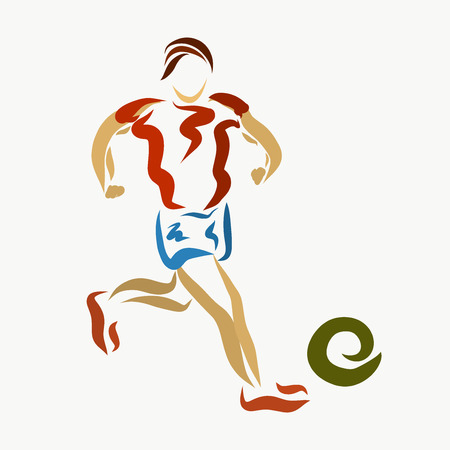 Man running for the ball, creative