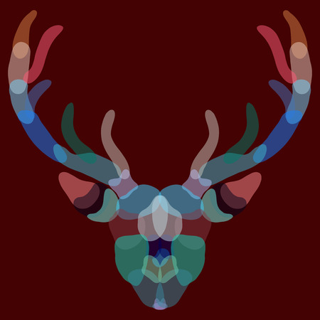 The deer, represented by colored transparent spots