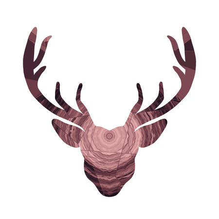 Head of a horned deer with creative abstract pattern Reklamní fotografie