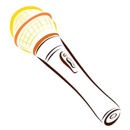 A microphone drawn in colorful lines Banque d'images