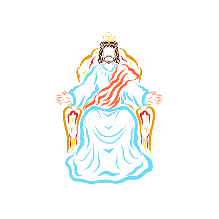 King Jesus on the throne, blessed and waiting