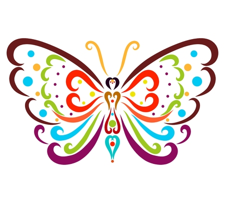 Beautiful colorful patterned butterfly, insect