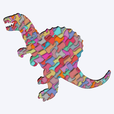 Colorful dinosaur with a creative pattern