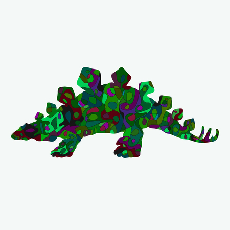 Stegosaurus with colorful creative pattern Stock fotó