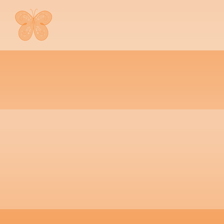 orange background with butterfly, stripes and gradient