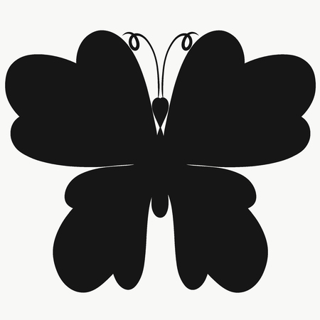 Silhouette of a beautiful butterfly