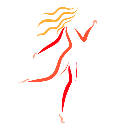 Slender running blonde, sport and slenderness