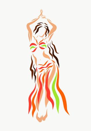Beautiful brunette performs sensual dance