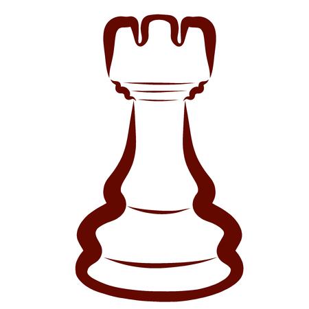 Brown chess piece, dark rook, intellectual leisure
