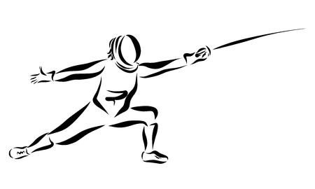 Homme avec une épée, escrime