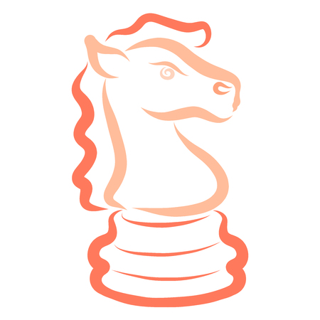colorful bright chess piece, knight, sketch, horse Banque d'images