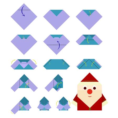 How to make Santa Claus, origami