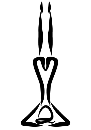 person stands upside down, sport, black pattern