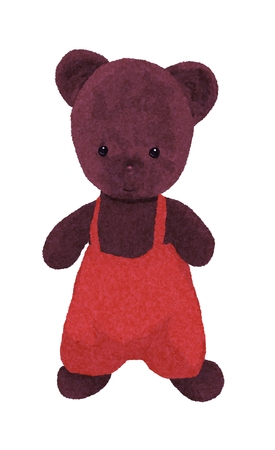 Antique teddy bear in shorts Foto de archivo - 121269925
