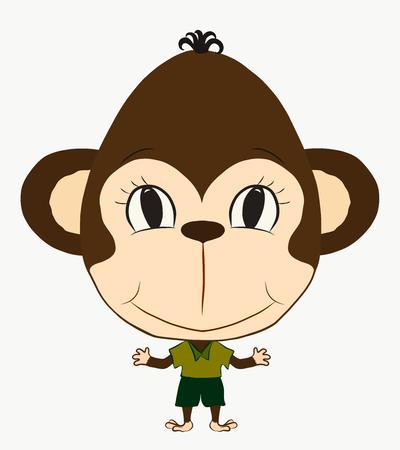 funny monkey boy Stock Photo