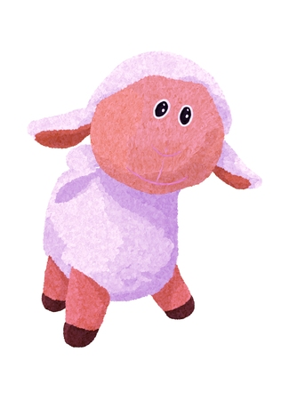 cute and funny plush lamb Banque d'images - 121268825