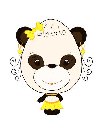 small, funny panda girl Standard-Bild - 121268632