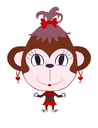 funny monkey girl Stock Photo