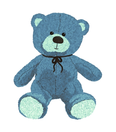 Cute and funny fluffy teddy bear Banque d'images - 121266692