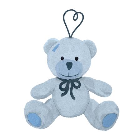 Little teddy bear with a loop