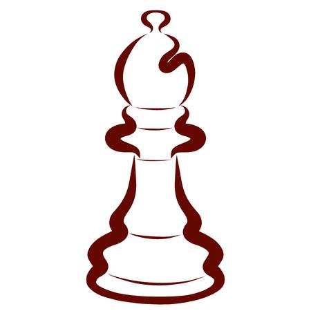 Brown Chess Piece, Dark Bishop, Decorative Pattern
