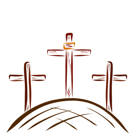 Golgotha and the Three Crosses