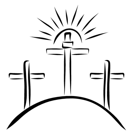 The sun above the cross, Golgotha