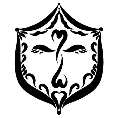 Christian shield with a winged cross, symbols Reklamní fotografie