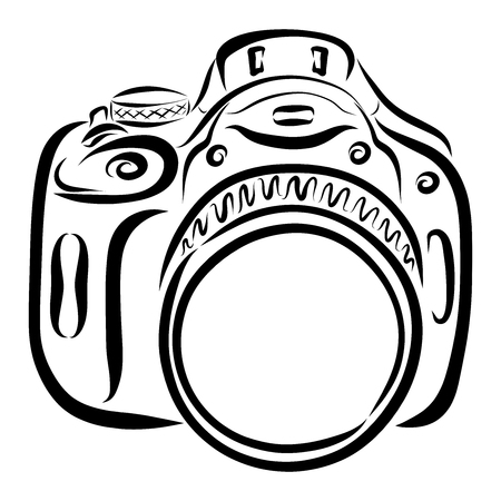 camera with a large lens, photography