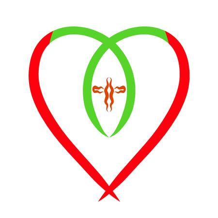 heart, fish and cross, Christian symbolism, gospel Stock Photo