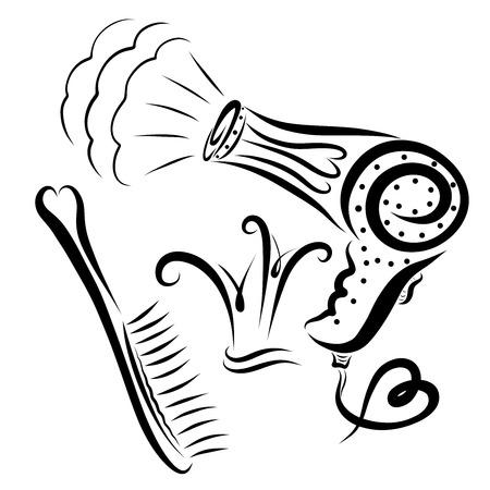 Set, um eine Frisur für die Prinzessin zu erstellen, eine Skizze