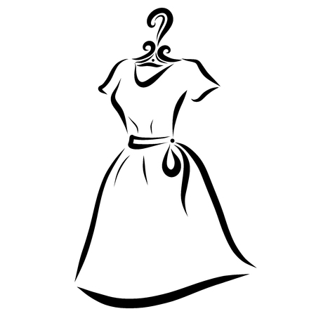 Dress for a young woman on a hanger