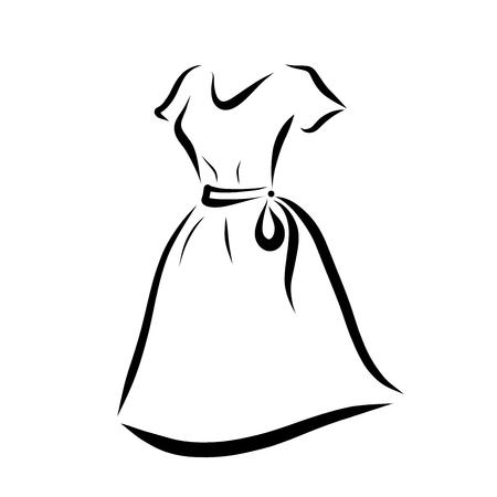 Womens summer dress with belt Reklamní fotografie