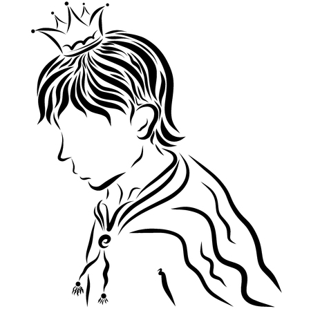 Young Prince in a Crown and Cloak