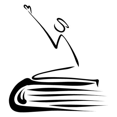 Die Bibel und der abstrakte Mann, der auf den Knien betet, eine solide Grundlage