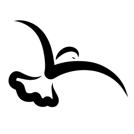 flying bird, black abstract pattern, flowing lines Reklamní fotografie