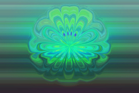 Abstract green background with a water flower