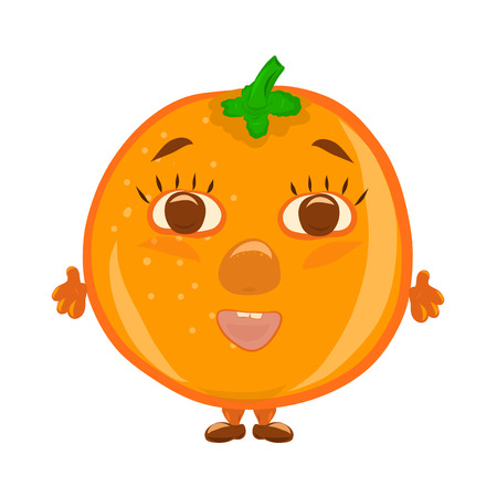 Funny funny orange with face
