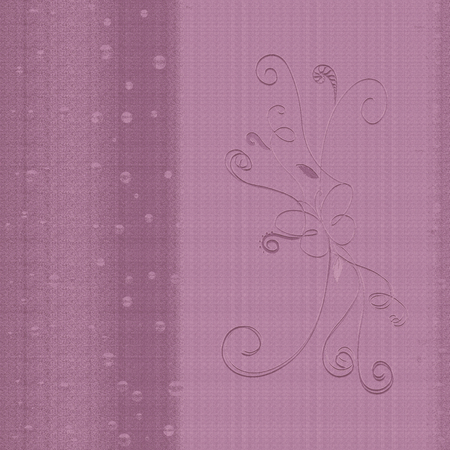 Lilac background with graceful butterfly, pattern and texture of fabric Banco de Imagens