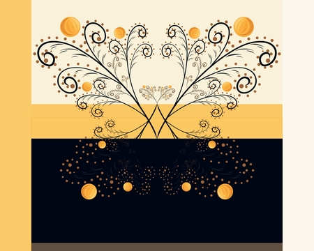 background with a patterned butterfly, painted with elegant lines