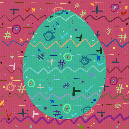 Background and Egg with a cheerful abstract pattern