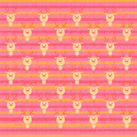 Bright striped background with funny deer