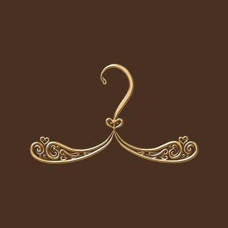 Gold hanger with ornament Banco de Imagens