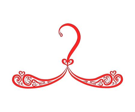 elegant hanger with curls