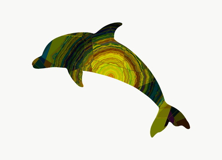 Abstract dolphin