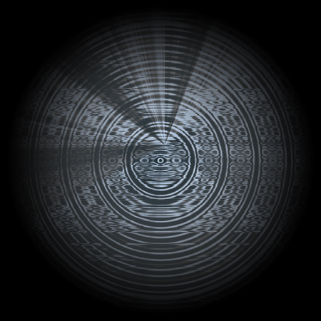Abstract background with circles and rays