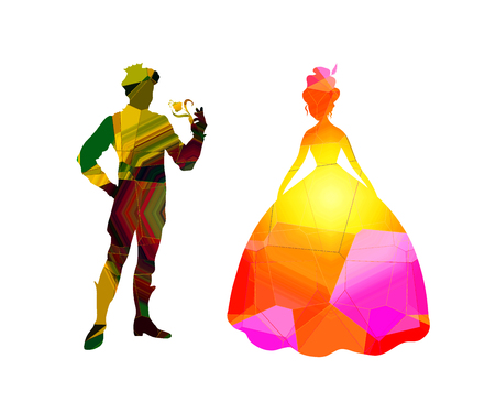 Abstract prince and princess background