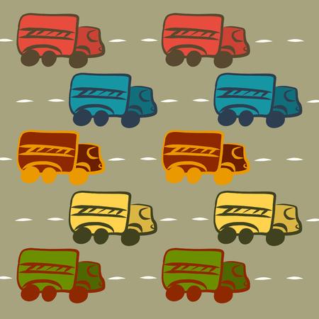 Children's background with cars Foto de archivo